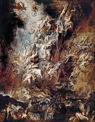 The Fall of the Damned, c.1620/21 | Rubens | Painting Reproduction