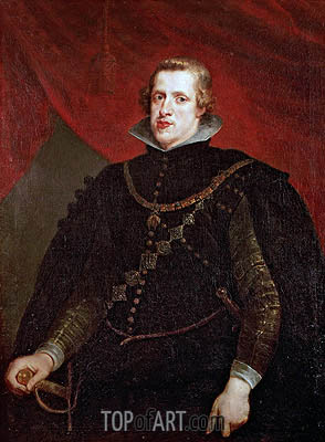 Philip IV of Spain, undated | Rubens | Painting Reproduction