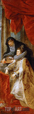 Infanta Isabella Clara Eugenia with Saint Elisabeth of Hungary (Right Wing of the Ildefonso Altar), c.1630/32 | Rubens | Painting Reproduction