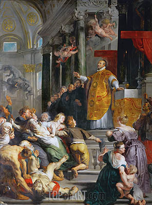 The Miracle of Saint Ignatius Loyola, c.1617/18 | Rubens | Painting Reproduction