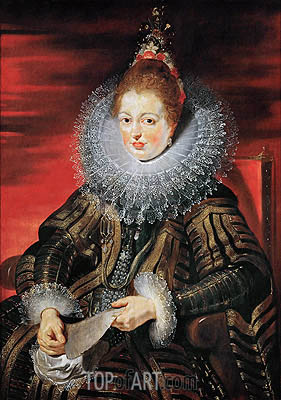Infanta Isabella Clara Eugenia, Wife of Archduke Albrecht VII, c.1613/15 | Rubens | Painting Reproduction