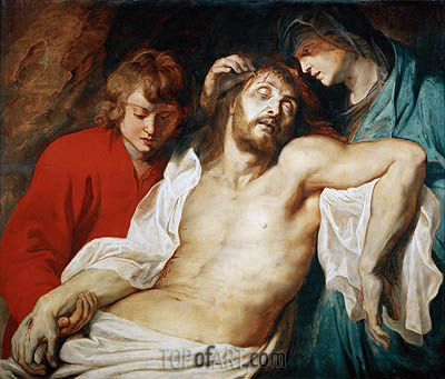 Lamentation with Saint Mary and Saint John, c.1614/15 | Rubens | Painting Reproduction