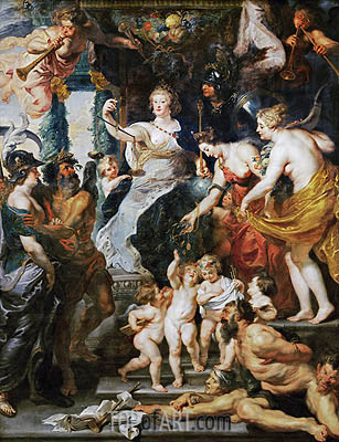 The Felicity of the Regency, c.1621/25 | Rubens | Painting Reproduction