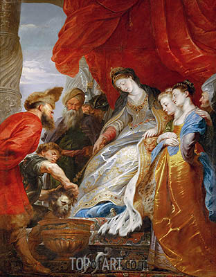 Thomiris, Queen of the Scyths, Orders the Head of Cyrus Lowered into a Vessel of Blood, undated | Rubens | Painting Reproduction