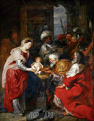 The Adoration of the Magi, c.1626/29 | Rubens | Gemälde Reproduktion