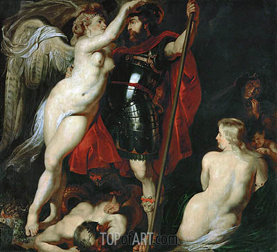 Mars Crowned by the Goddess of Victory, undated | Rubens | Painting Reproduction