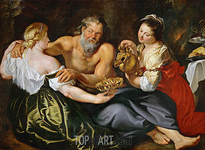 Lot and His Daughters, undated | Rubens | Gemälde Reproduktion