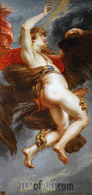 The Rape of Ganymede, c.1636/38 | Rubens | Painting Reproduction