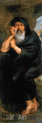 Heraclitus (The Crying Philosopher), c.1636/38 | Rubens | Gemälde Reproduktion