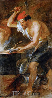 Vulcan Forging the Lightning of Jupiter, c.1636/38 | Rubens | Gemälde Reproduktion