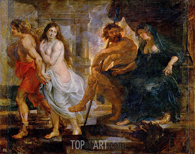 Orpheus and Euridice with Pluto and Proserpina, c.1636/38 | Rubens | Gemälde Reproduktion