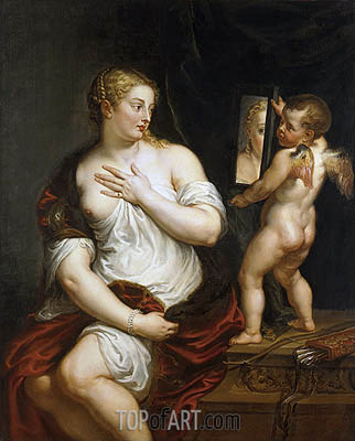 Venus and Cupid (after Titian), c.1606/11 | Rubens | Painting Reproduction