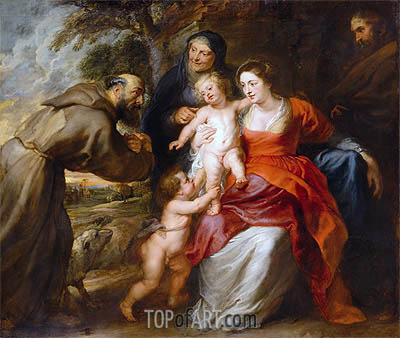 The Holy Family with Saints Francis and Anne and the Infant Saint John the Baptist, c.1630/35 | Rubens | Gemälde Reproduktion