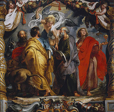 The Four Evangelists, c.1625 | Rubens | Painting Reproduction