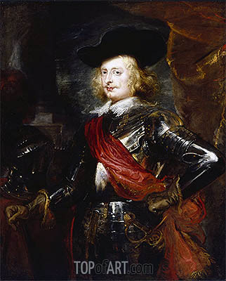 Portrait of Archduke Ferdinand, 1635 | Rubens | Painting Reproduction