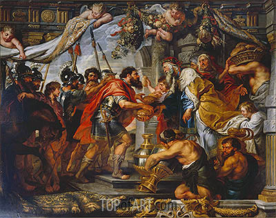 The Meeting of Abraham and Melchizedek, c.1625 | Rubens | Painting Reproduction