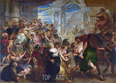 The Rape of the Sabine Women, c.1635/40   Rubens   Painting Reproduction