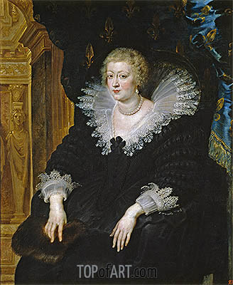 Ana of Austria, Wife of Louis XIII, c.1622   Rubens   Painting Reproduction