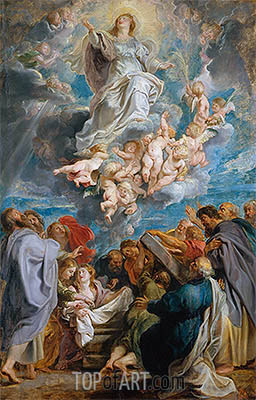 The Assumption of the Virgin, c.1611/12 | Rubens | Painting Reproduction