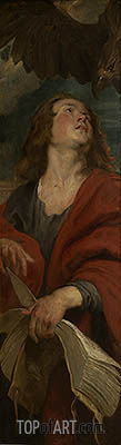 John the Evangelist (Right Panel of Christ in the Straw), c.1618 | Rubens | Painting Reproduction