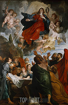 The Assumption of the Virgin Mary, c.1616/18 | Rubens | Painting Reproduction