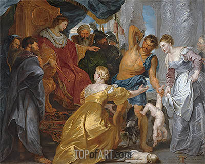The Judgement of Solomon, c.1617 | Rubens | Painting Reproduction