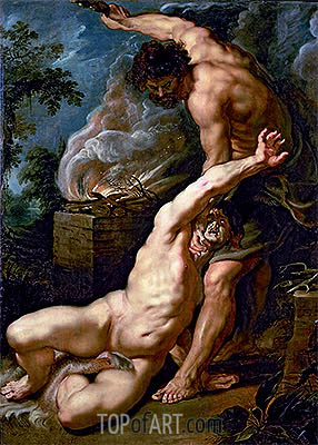 The Expulsion of Hagar, c.1608/09 | Rubens | Gemälde Reproduktion