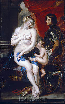 Venus, Mars and Cupid, undated | Rubens | Painting Reproduction