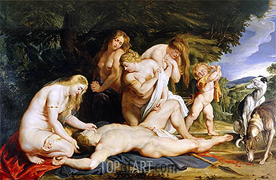 The Death of Adonis, c.1614 | Rubens | Painting Reproduction