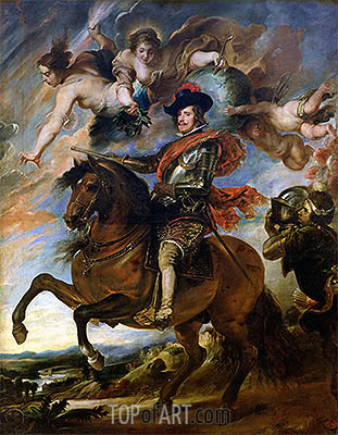 Equestrian Portrait of King Philip IV of Spain, undated | Rubens | Painting Reproduction