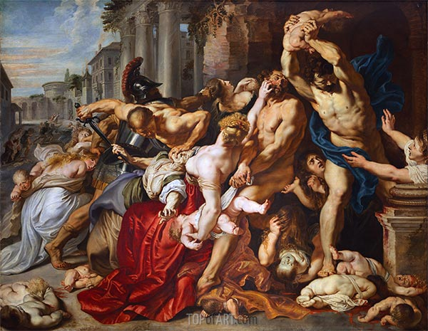 The Massacre of the Innocents, c.1610/12   Rubens   Painting Reproduction