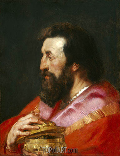 One of the Three Magi: Melchior, c.1618 | Rubens | Painting Reproduction