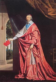 Portrait of Cardinal Richelieu, c.1635/40 by Philippe de Champaigne | Painting Reproduction