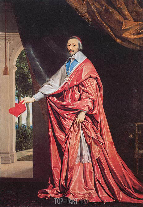 Portrait of Cardinal Richelieu, c.1635/40 | Philippe de Champaigne | Painting Reproduction