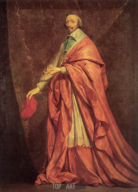 Portrait of Cardinal Richelieu, c.1639 | Philippe de Champaigne | Painting Reproduction