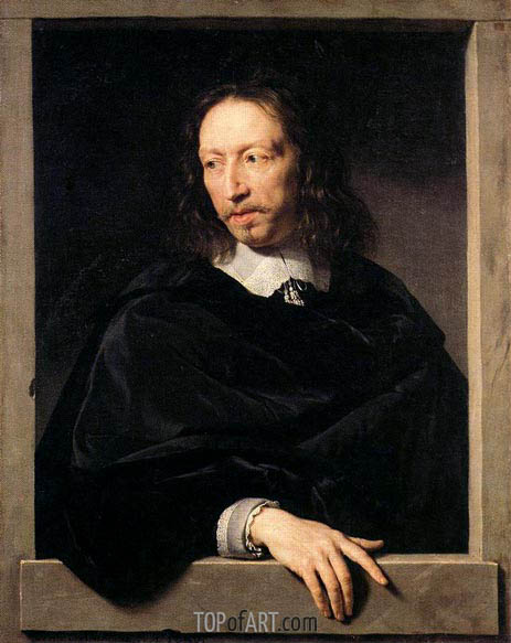 Portrait of a Man, possibly of Robert Arnauld of Andilly, 1650 | Philippe de Champaigne | Painting Reproduction