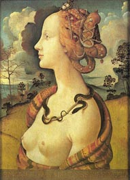 Portrait of Simonetta Vespucci, before 152 von Piero di Cosimo | Gemälde-Reproduktion