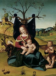 Madonna with Child and the Young St John, c.1505/10 by Piero di Cosimo | Painting Reproduction