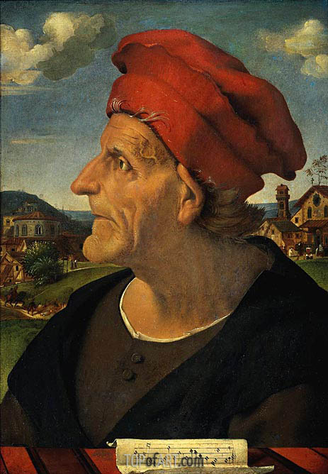 Portrait of Francesco Giamberti, Cabinetmaker, c.1482 | Piero di Cosimo | Painting Reproduction