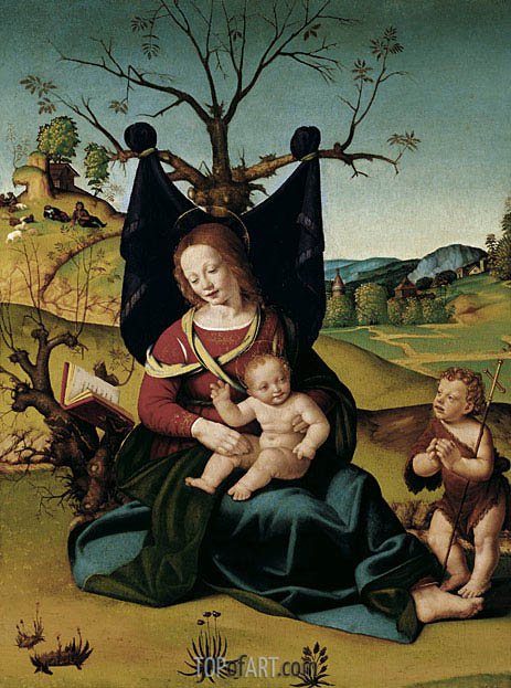 Madonna with Child and the Young St John, c.1505/10 | Piero di Cosimo | Painting Reproduction