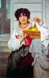 Peasant Girl with Basket of Oranges and Lemons, 1871 by Pierre-Auguste Cot | Painting Reproduction