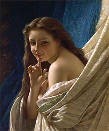 Portrait of a Young Woman, 1869 by Pierre-Auguste Cot | Painting Reproduction