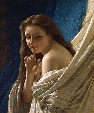 Portrait of a Young Woman, 1869 | Pierre-Auguste Cot | Painting Reproduction