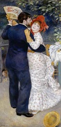 Dance in the Country (Dance at Chatou), 1883 by Renoir | Painting Reproduction