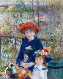 Two Sisters (On the Terrace) | Renoir | Painting Reproduction