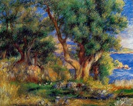 Landscape on the Coast, near Menton, 1883 by Renoir | Painting Reproduction
