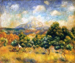 Mount Sainte-Victoire, 1889 by Renoir | Painting Reproduction