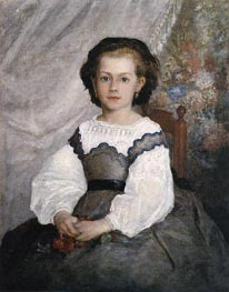 Mademoiselle Romaine Lacaux, 1864 by Renoir | Painting Reproduction