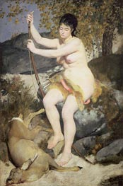 Diana the Huntress, 1867 by Renoir | Painting Reproduction