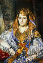 Madame Clementine Stora in Algerian Dress, 1870 by Renoir | Painting Reproduction